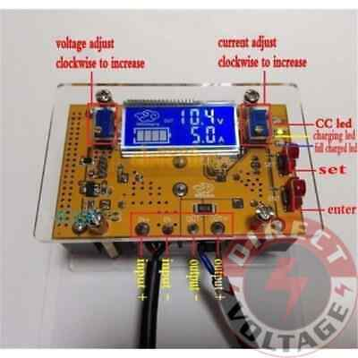 10A DC-DC Adjustable Step-down CC CV LCD Dual Display Power Supply Module+Shell