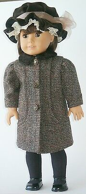 """1904 Coat and Hat Sewing Pattern Fits 18"""" American Girl Doll # 43"""
