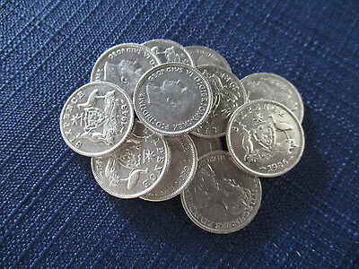 Set Of Christmas Pudding Sterling Silver Sixpences. Very Nice Coins.