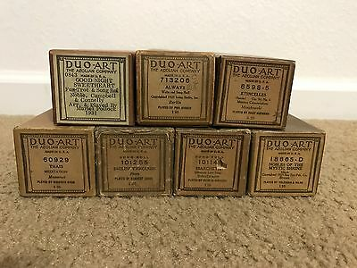 Lot of 7 Duo-Art Song Music Rolls For Reproducing Player Self-Playing Piano #3