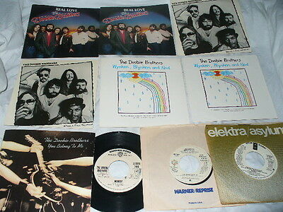 Doobie Brothers 3 Promo 45s + 7 Picture Sleeves Real Love  What A Fool Believes
