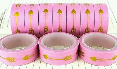 ONE Pink Gold Washi Tape Japanese stationery Filofax Scrapbooking Planner UK