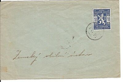1918 Czechoslovakia SCOUT POST COVER / lion