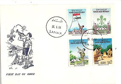 Yemen scout cover  FDC 1964