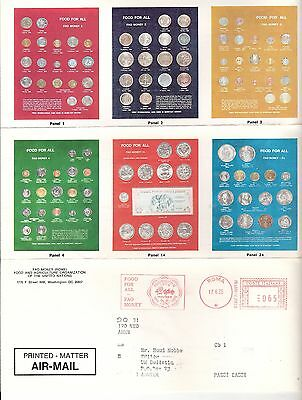 FAO food  money coins  United Nations Rome Roma Italy Meter Stamp Letter 1975