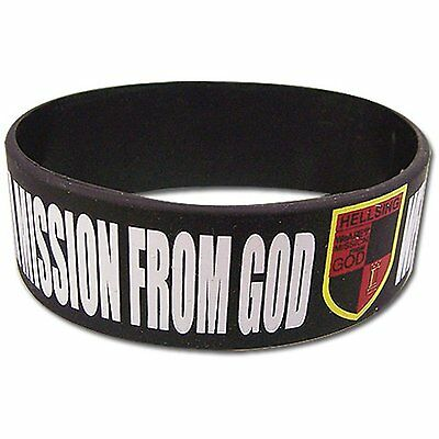 *NEW* Hellsing Ultimate: Hellsing Organization Slogan Black PVC Wristband by GE