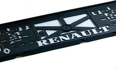 2Pcs = 1Pair Renault 3D Number Plate Holders Euroclip NEW ! SHIPPING FREE !