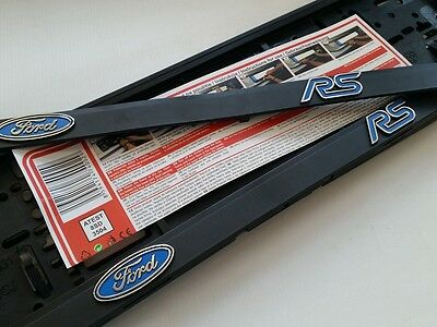 2 Pcs = 1 Pair FORD RS 3D Number Plate Holder Fiesta Focus ST Surrounds
