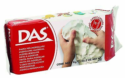 DAS White Air Drying Modelling Clay For Art Craft School Pottery Projects 1kg