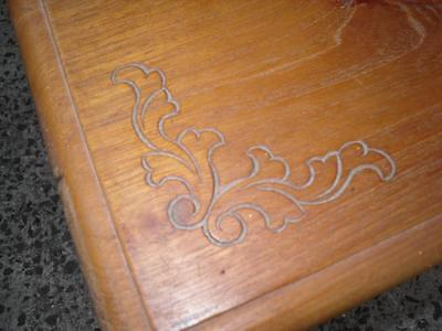 Vintage timber trunk / chest with carvings
