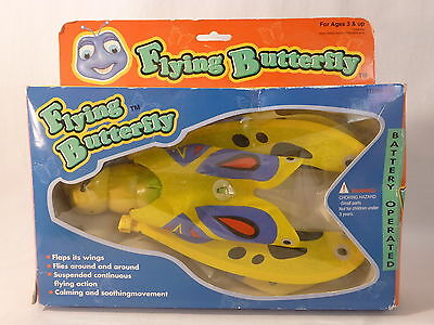 "Flying Butterfly 10"" Battery Operated Suspended Action Toy Flaps Wings"