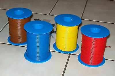 4 x 100 Meter Stranded wire Cable (1m= ) for Model railways 0,14mm²