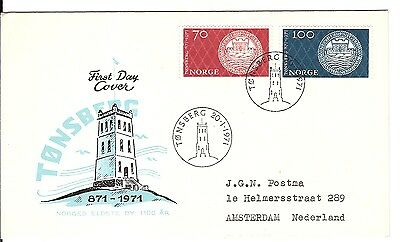 111)) NORWAY / FDC First Day Cover 1971 Tonsberg