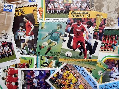 100 Thematic Football Stamps Mainly CTO/Mint Unmounted Singles & Sets