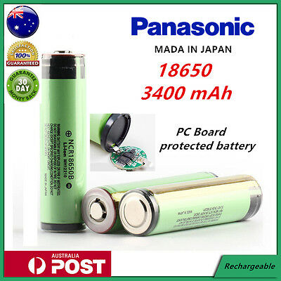 Panasonic NCR 18650 B 3400mAh Lithium Li-Ion Protected Rechargeable Battery