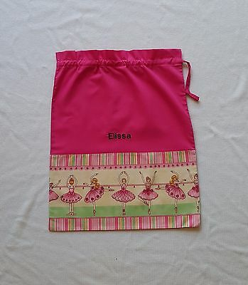 $$ Free Name Ballerina Barre Personalised Embroidery Library Bag Fd