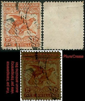 Nlle Zelande/New Zealand Yt:80  Sc:81  Sg:257 1s Red   (1898) Oblit/Used