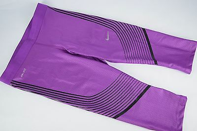 competitive price f0f63 a3960 NWT  110 Womens Nike Power Speed Capris Tights 801694 556 sz S running