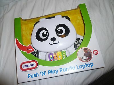 Little Tikes Push and Play Panda Laptop - new