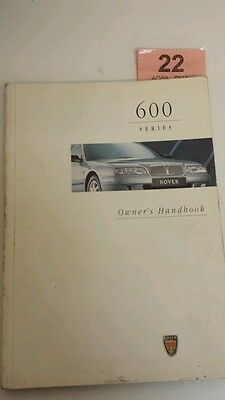 ROVER 600 Owners Handbook  93 - 00