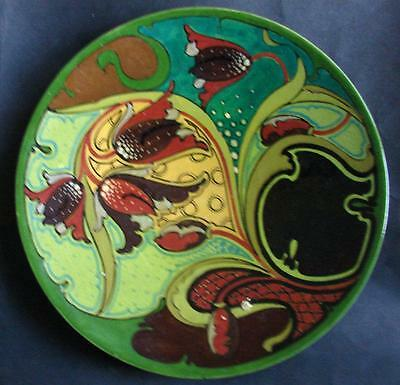 Beautiful  Dutch Art Nouveau Gouda Holland Ivora wall plate ca. 1920