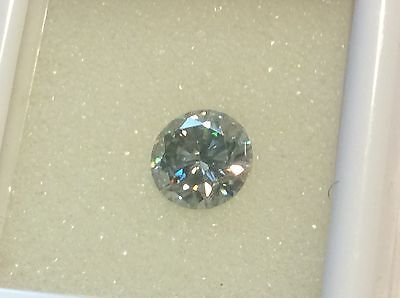 REAL MOISSANITE  WHITE BLUE  COLOR BRILLIANT CUT  VS1 1.57 ct 7.93 MM TESTED