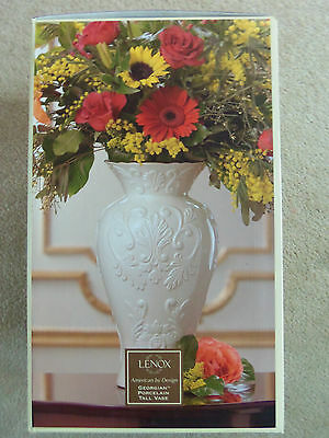 "FREE S&H Lenox Georgian Ivory Porcelain 16"" Oversized Large Tall Vase New W/Box"