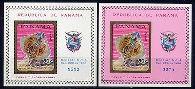 Panama 1968 Fische Fishes Poissons Pesci Block 91 A/B Perf Imperf MNH KW €34