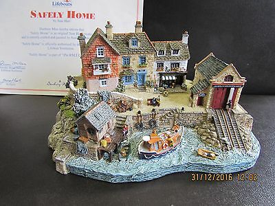 Danbury mint RNLI Lifeboat safely home ornament by jane hart limited edition