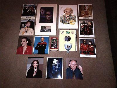 Star Trek Deep Space Nine, Collection, Photo, Mounted Prints, Pin Badges, Goblet