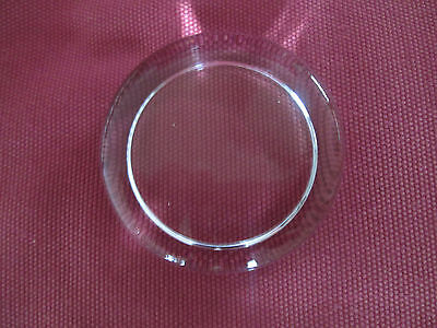Small Round Glass Paperweight for Mounting Crafts or Pictures 7cm Across