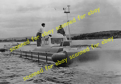 Photo - Denny hovercraft on trials, Gareloch, Firth of Clyde, May 1961