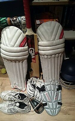 Full Cricket Equipment (Slazenger and GM)with carry bag