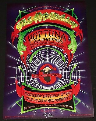 Hot Tuna Jorma & Jack at The Yale Club NYC Concert Poster Signed R. Tuten 1997