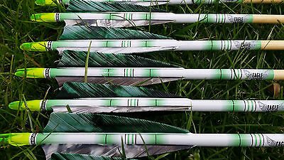 Archery Arrow wraps for longbow, recurve and traditional arrows - Green