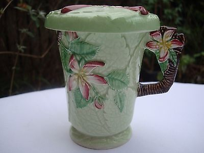 Carlton Ware Chocolate Cup Or Mug And Cover Art Deco Apple Blossom Pattern