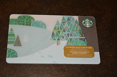 "STARBUCKS Canada: (SB#42) ""CHRISTMAS: Trees"" Collectable Gift Card"