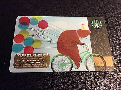 "STARBUCKS Canada: (SB#179) ""Happy Birthday Bear"" Collectable Gift Card"