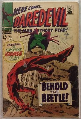 Daredevil #33 (1967 Marvel) Silver Age Rare Early GD condition for age.