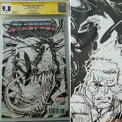 Deadpool Back In Black #1 Krs Cgc Ss 9.8 With Cable Remark By Tyler Kirkham