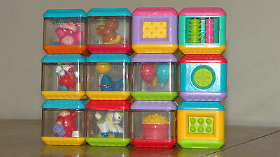 12 Fisher Price Peek a Blocks Educational Toy Plastic