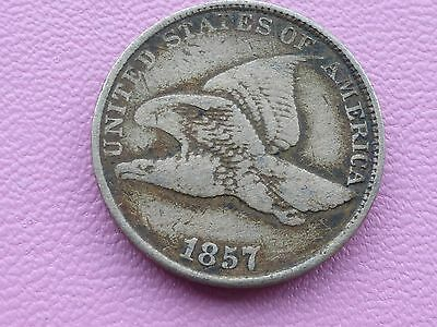 United States one cent coin 1857 Eagle good filler