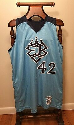 Reebok Rucker Park EBC Basketball Jersey #42 Large Blue 30th Anniversary Rare