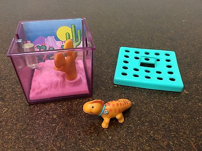 Vintage 1992 Kenner Littlest Pet Shop Cage Lizard Iguana Ranch Terrarium Cactus