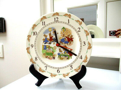 Royal Doulton Bunnykins Bone China kids baby Nursery Clock