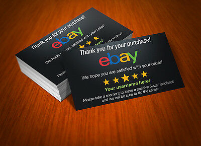 500 Custom Printed Full Color eBay Seller ID Thank You Cards FREE SHIPPING!