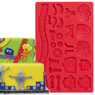 Wilton Silicone Mould - Robots & Monsters