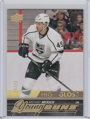 2015-16 Michael Mersch UD SP Authentic young guns rookie YG RC HG High Gloss /10