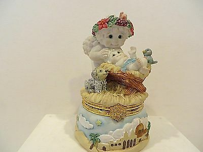 "Dreamsicles ""cherub In Manger""  Trinket Box"