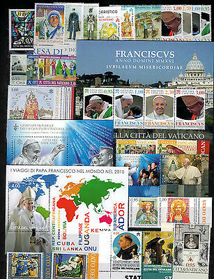 Vatican 2016 complete yearset 28 stamps+ 3 miniature sheets mint not hinged**